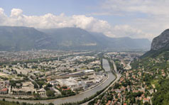 Overview of Grenoble, France