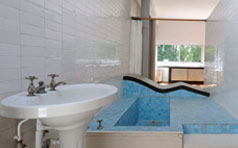 Bathroom of the Ville Savoye designed by Le Corbusier